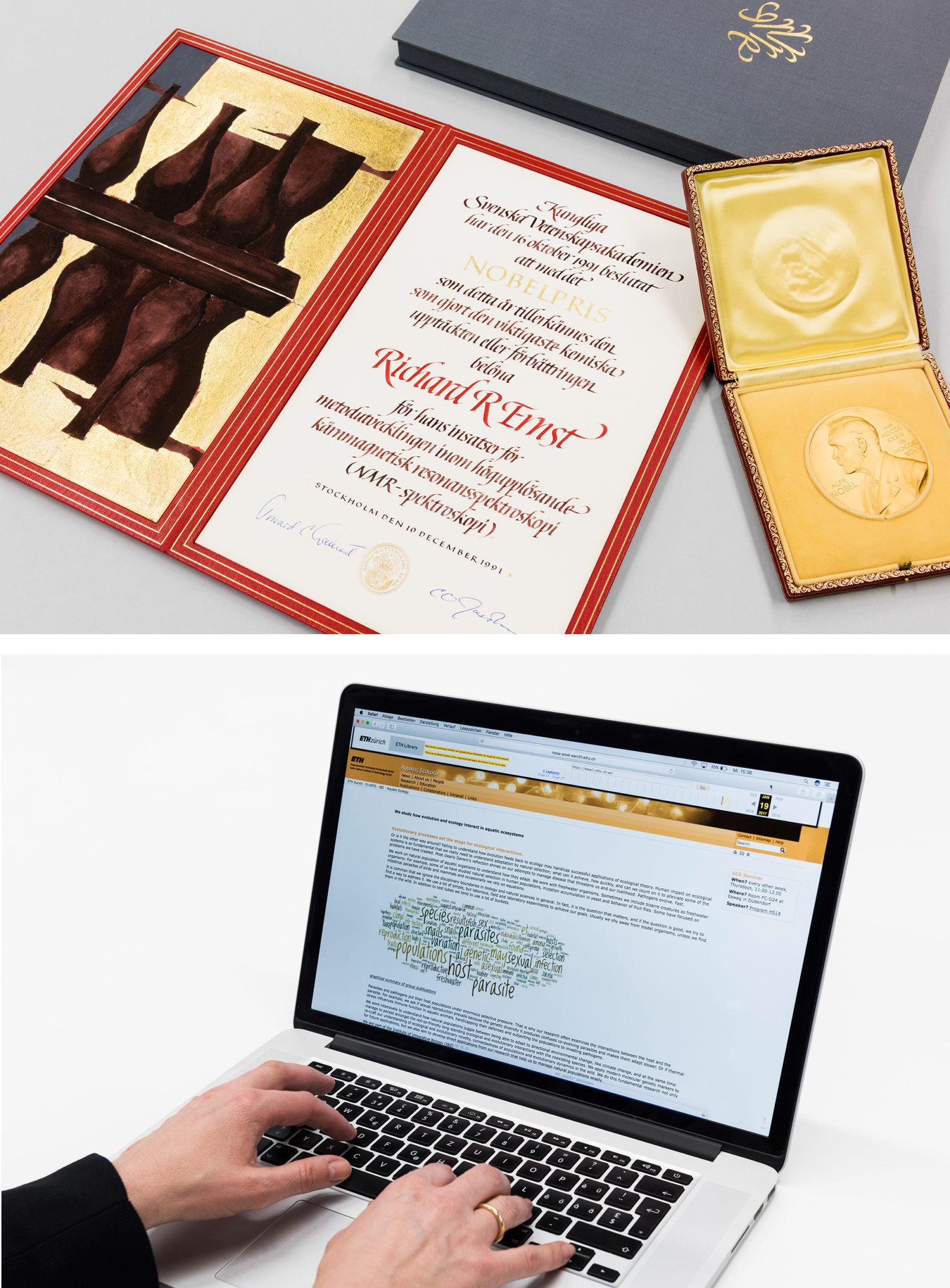 Sichern Sie Ihr CV sowie Ihre Publikationslisten und Auszeichnungen