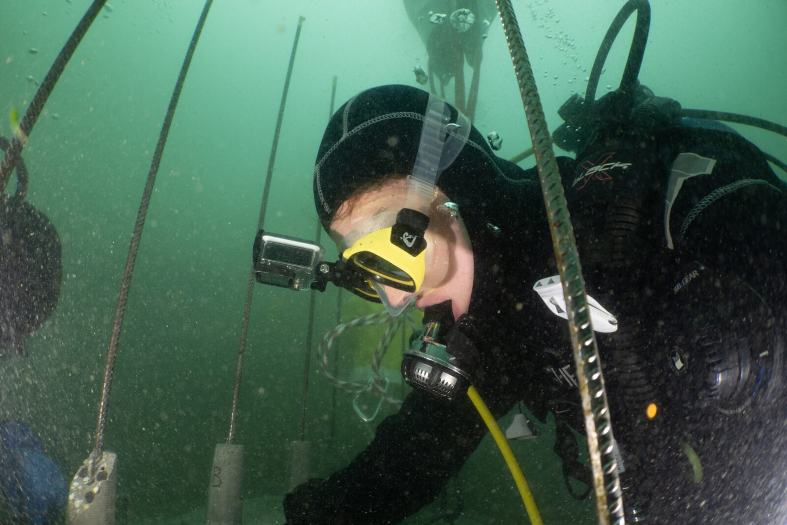 For the test, we installed an entire rrreefs structure underwater in Lake Zurich. © Andre Fahrni/TSK Zurich