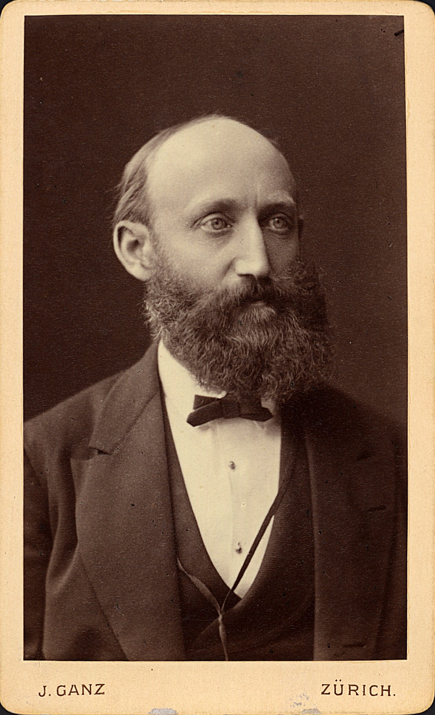 Adolf Kraemer, ca. 1886. (Bild: Johannes Ganz. ETH-Bibliothek Zürich, Bildarchiv)