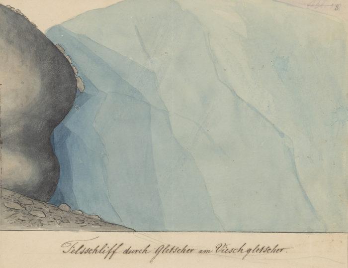 Felsschliff durch Gletscher am Vieschgletscher